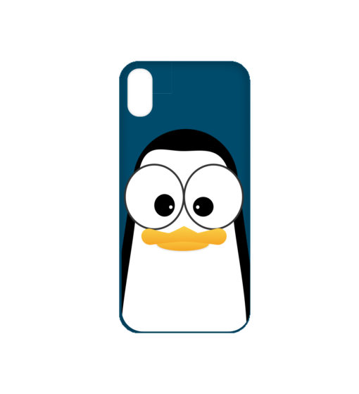 Crazy Pinguins iPhone X Case by Andre Martin