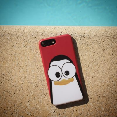 Crazy Pinguins Case iPhone Red