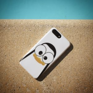 Crazy Pinguins Case iPhone White